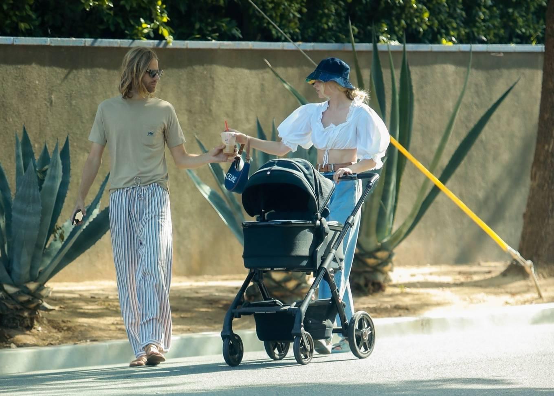 Elsa Hosk 2021 : Elsa Hosk – Out with her family near her Pasadena home-05