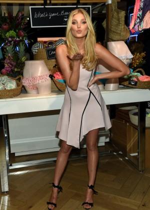 Elsa Hosk - Push-ups and The Victoria's Secret Swim Special Celebrates in NYC