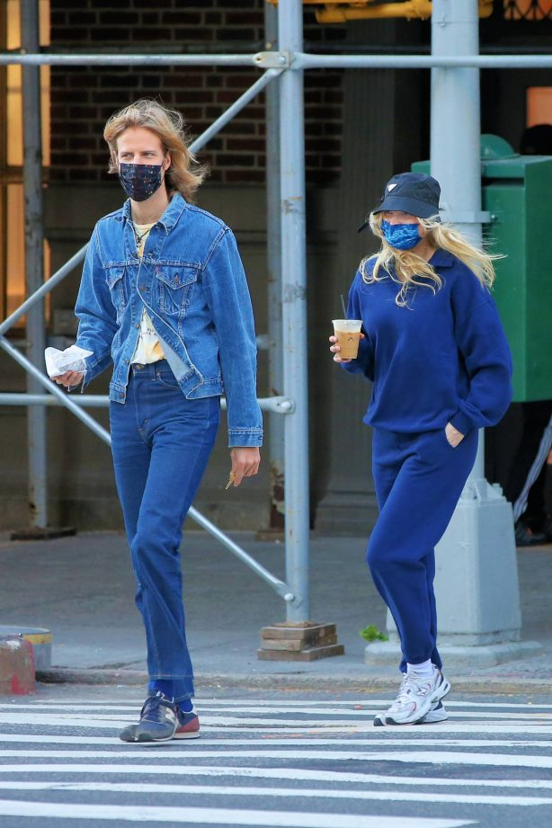 Elsa Hosk - Seen while out for a morning coffee in Soho