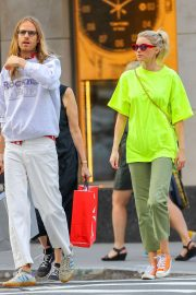 Elsa Hosk - Shopping candids at Balenciaga in New York City