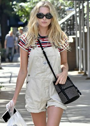 Elsa Hosk Shopping in New York City