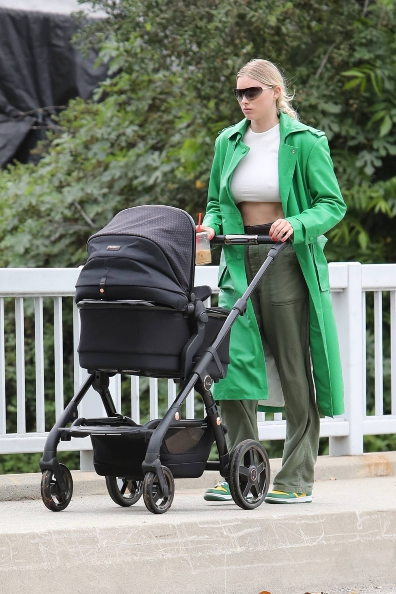 Elsa Hosk 2021 : Elsa Hosk – Shows her abs while on a coffee run in Los Angeles-23