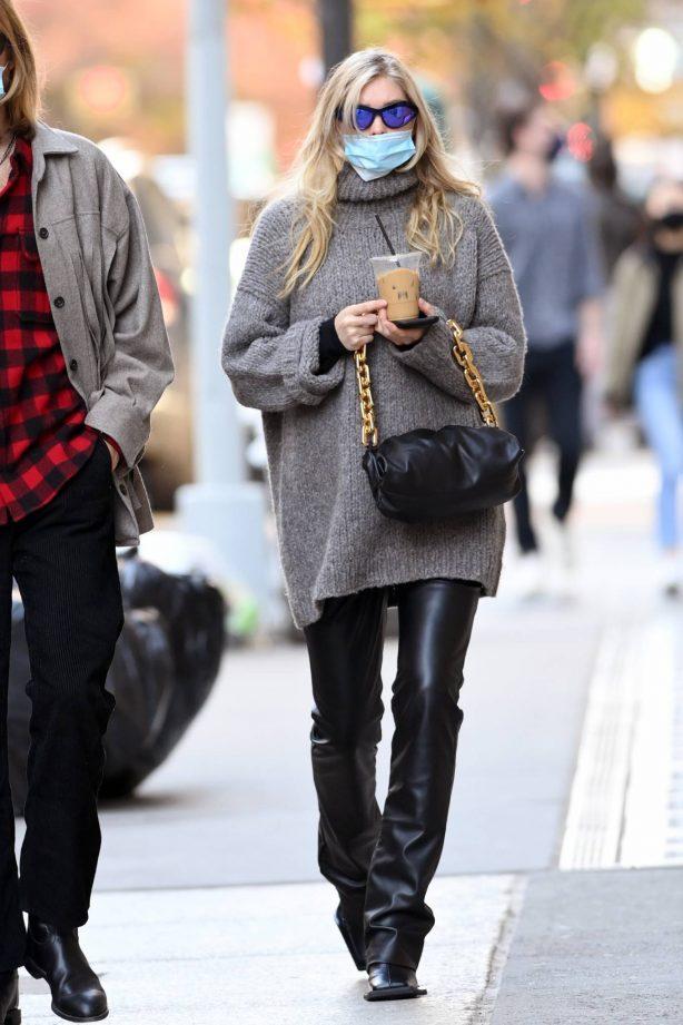 Elsa Hosk - Spotted while walking around Soho in New York