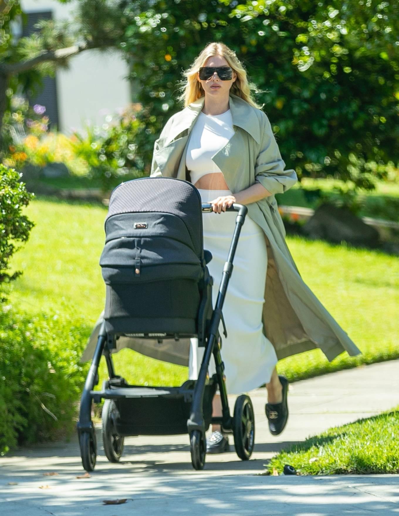 Elsa Hosk 2021 : Elsa Hosk – Takes her baby for a stroll in Pasadena-01