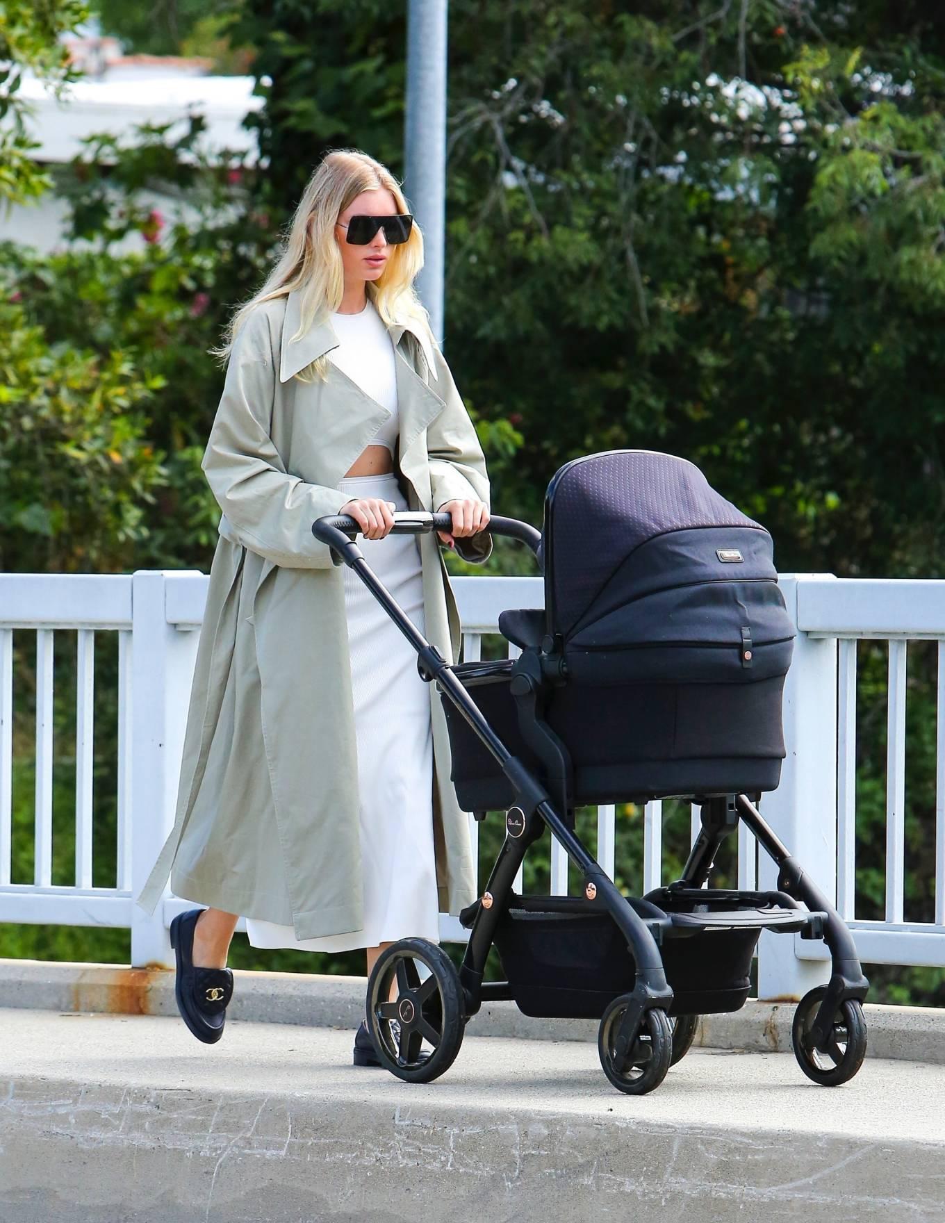 Elsa Hosk - Takes her baby for a stroll in Pasadena