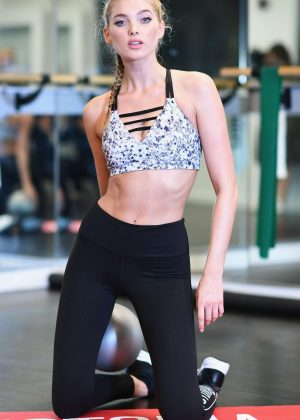 Elsa Hosk - Train Like An Angel at Flex Studios in New York City