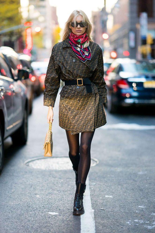 Elsa Hosk – Victoria's Secret Fashion Show Fittings in NY