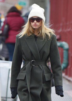 Elsa Hosk - Walking in Tribeca after leaving a workout in NY