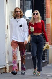 Elsa Hosk with boyfriend Tom Daly out in Manhattan