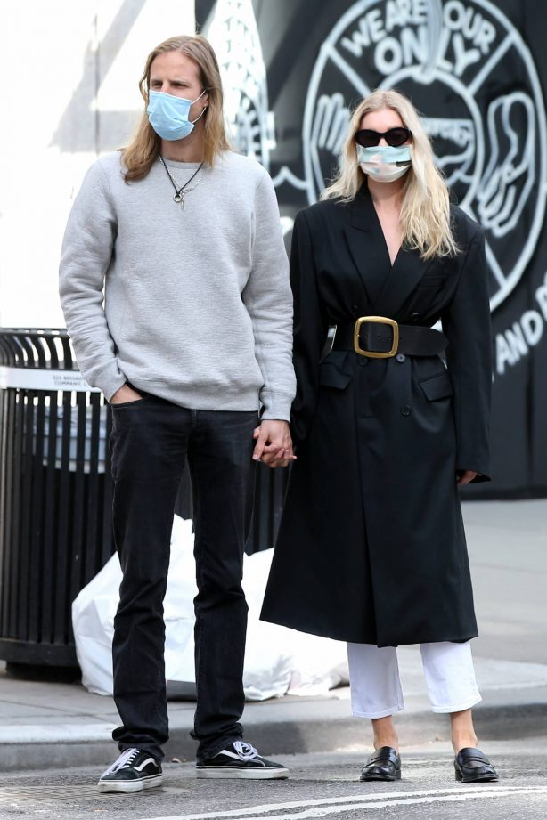 Elsa Hosk with boyfriend Tom Daly - Out in New York City