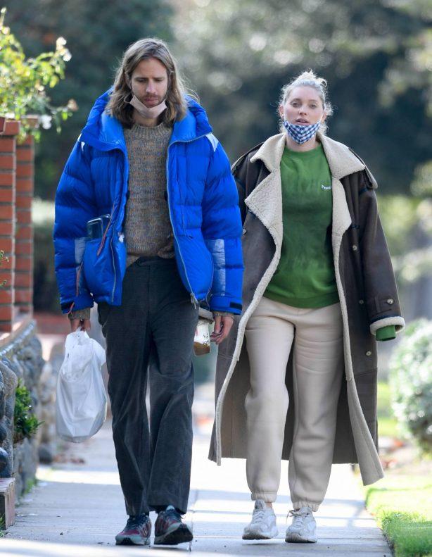 Elsa Hosk - With boyfriend Tom Daly walk to breakfast in Pasadena