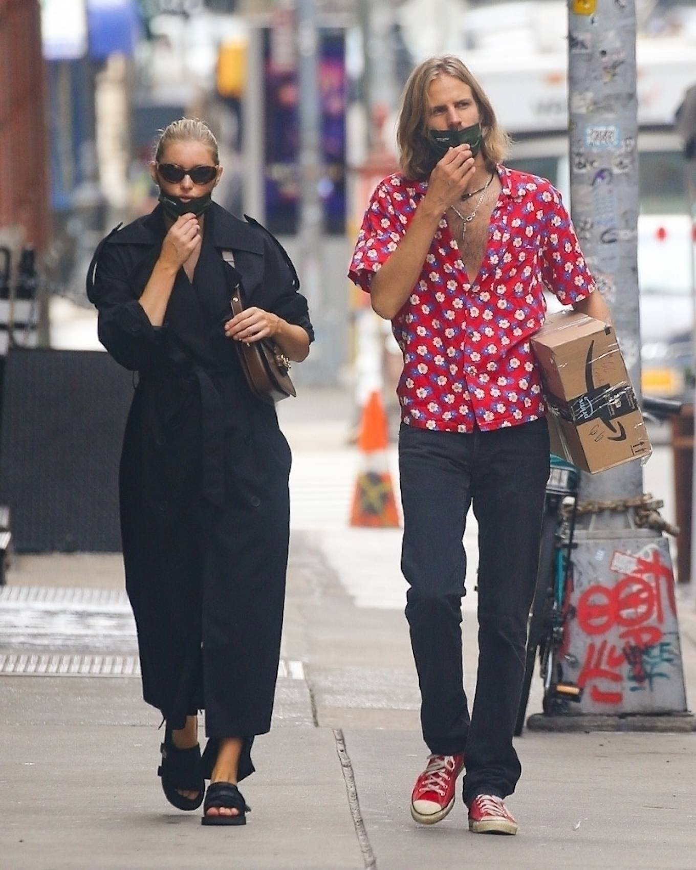 Elsa Hosk 2020 : Elsa Hosk with her boyfriend in New York City-02