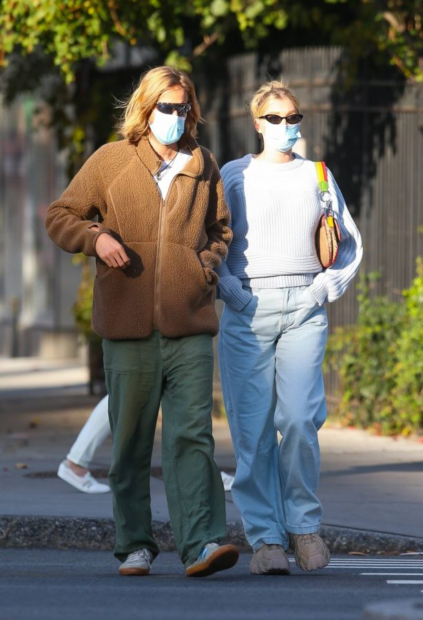 Elsa Hosk with her husband seen after having lunch at the 'Smile' in New York