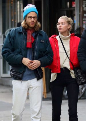 Elsa Hosk with Tom Daly out in NYC
