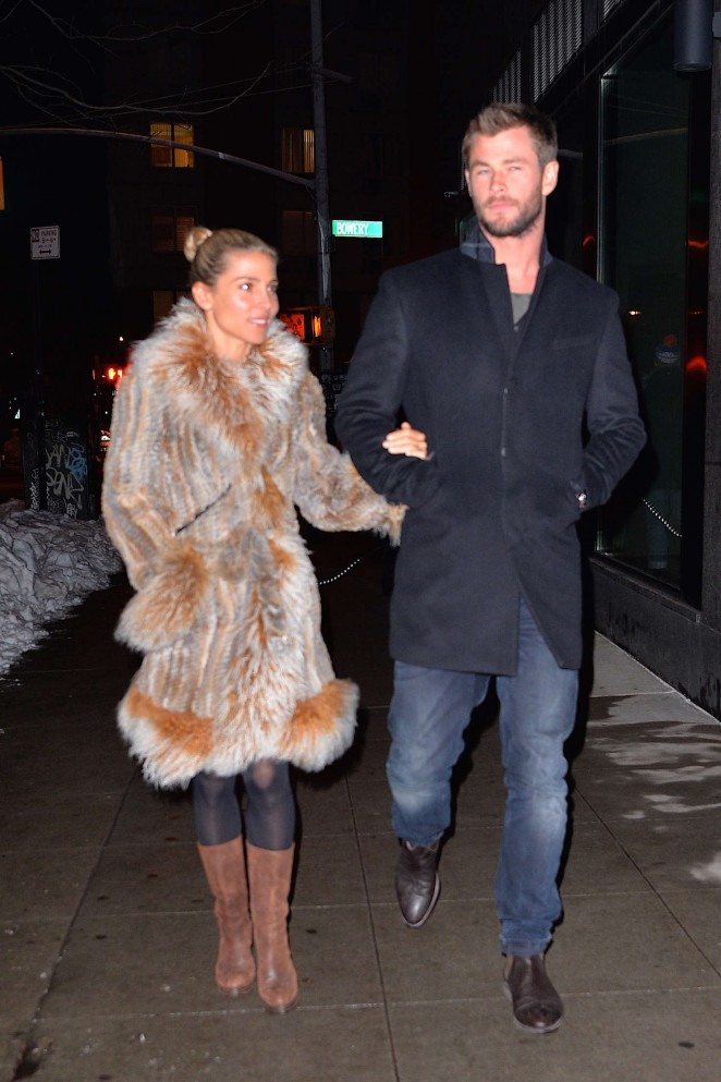 Elsa Pataky and Chris Hemsworth out in New York