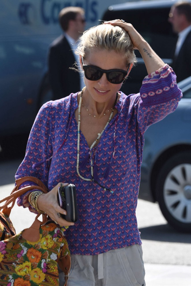 Elsa Pataky Arrives in Barcelona
