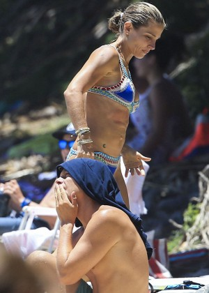 Elsa Pataky in Bikini in Byron Bay
