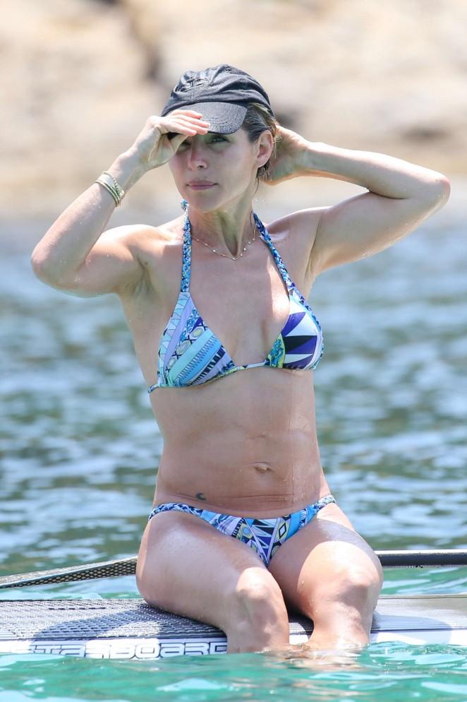 Elsa Pataky in Bikini in Corsica