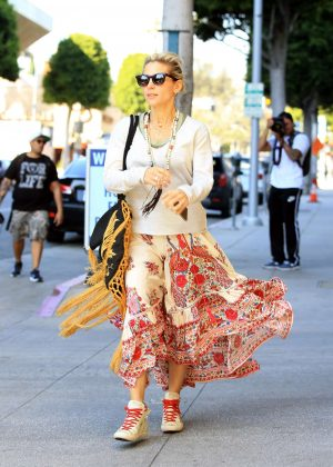 Elsa Pataky in Flowery Skirt out in Beverly Hills