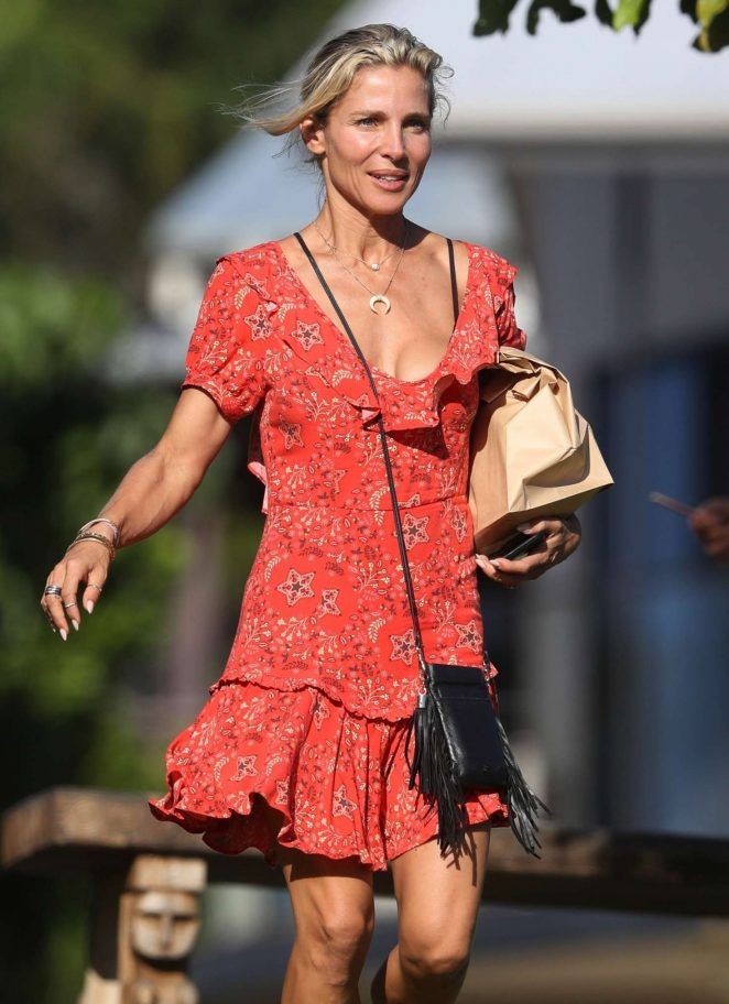 Elsa Pataky in Mini Dress out in Byron Bay