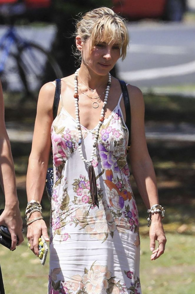 Elsa Pataky in Summer Dress Out in Byron Bay