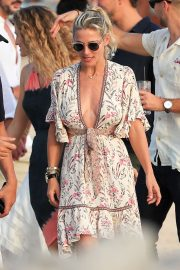 Elsa Pataky in Summer Dress - Out in Ibiza