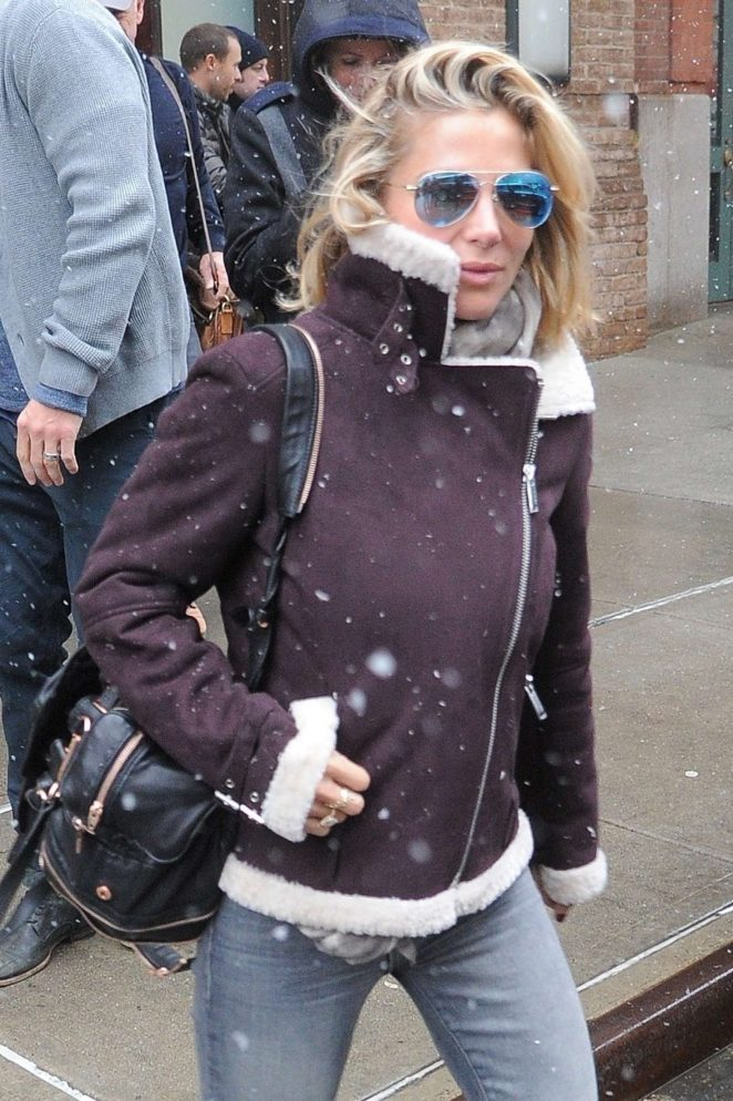 Elsa Pataky - Leaves her hotel in Manhattan