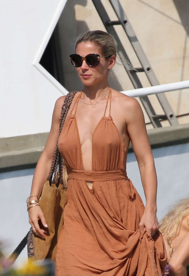 Elsa Pataky in Long Dress out in Corsica