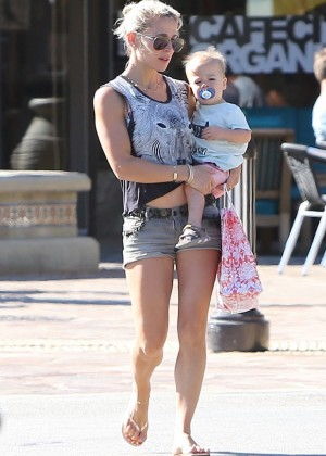 Elsa Pataky in Shorts out in Malibu