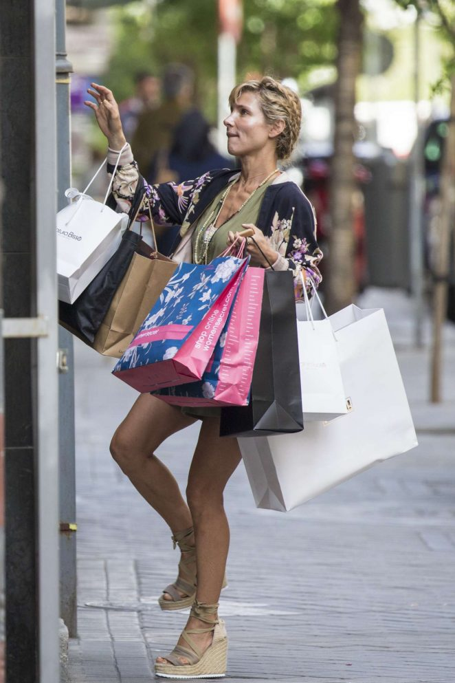 Elsa Pataky out Shopping in Madrid