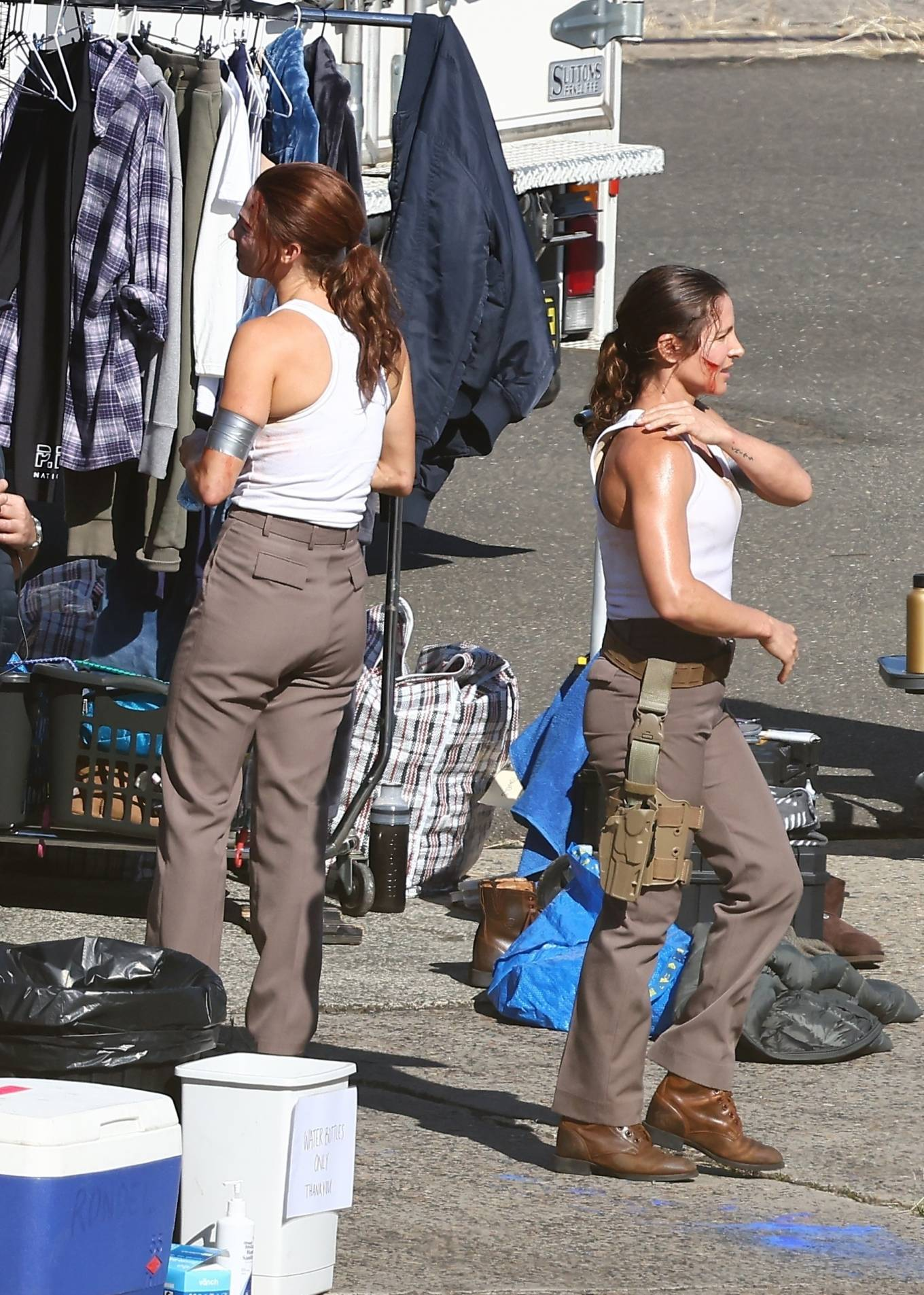 Elsa Pataky - Pictured on the set of 'Interceptor' filming in Sydney
