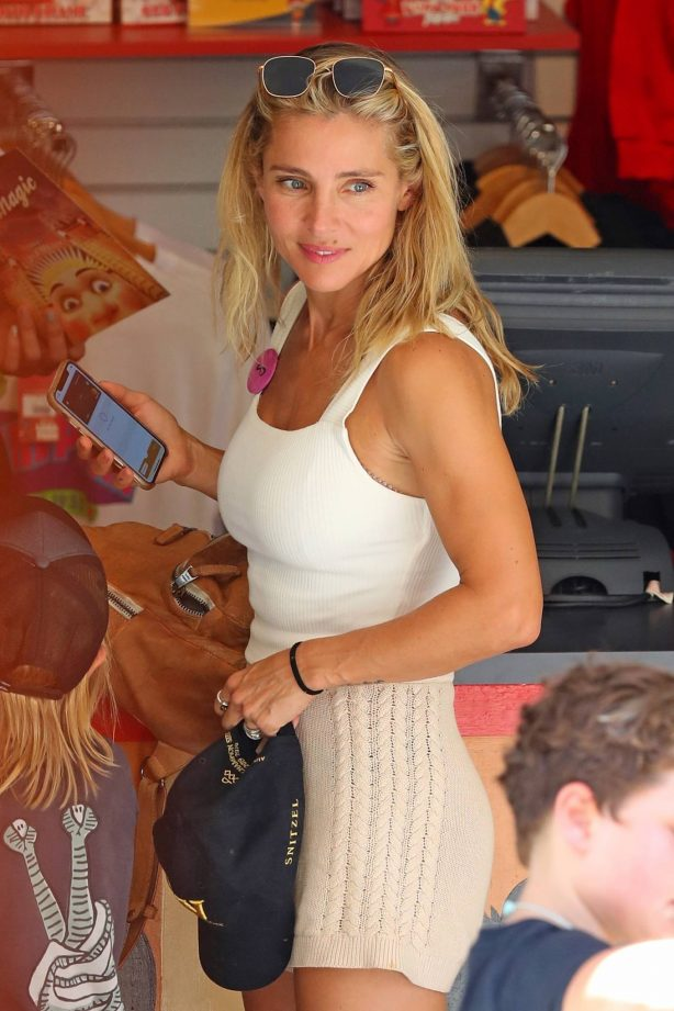 Elsa Pataky - Spending the day at Luna Park in Sydney