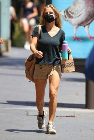 Elsa Pataky - wearing shorts while out in Sydney
