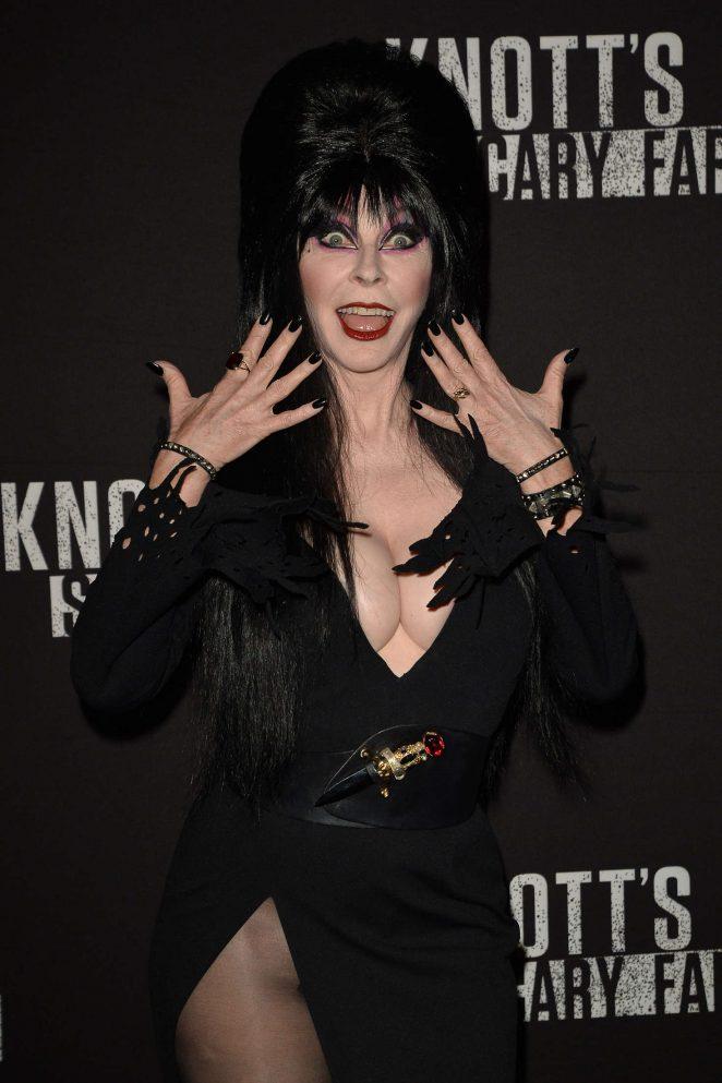 Elvira - Knott's Scary Farm Opening Night in Los Angeles