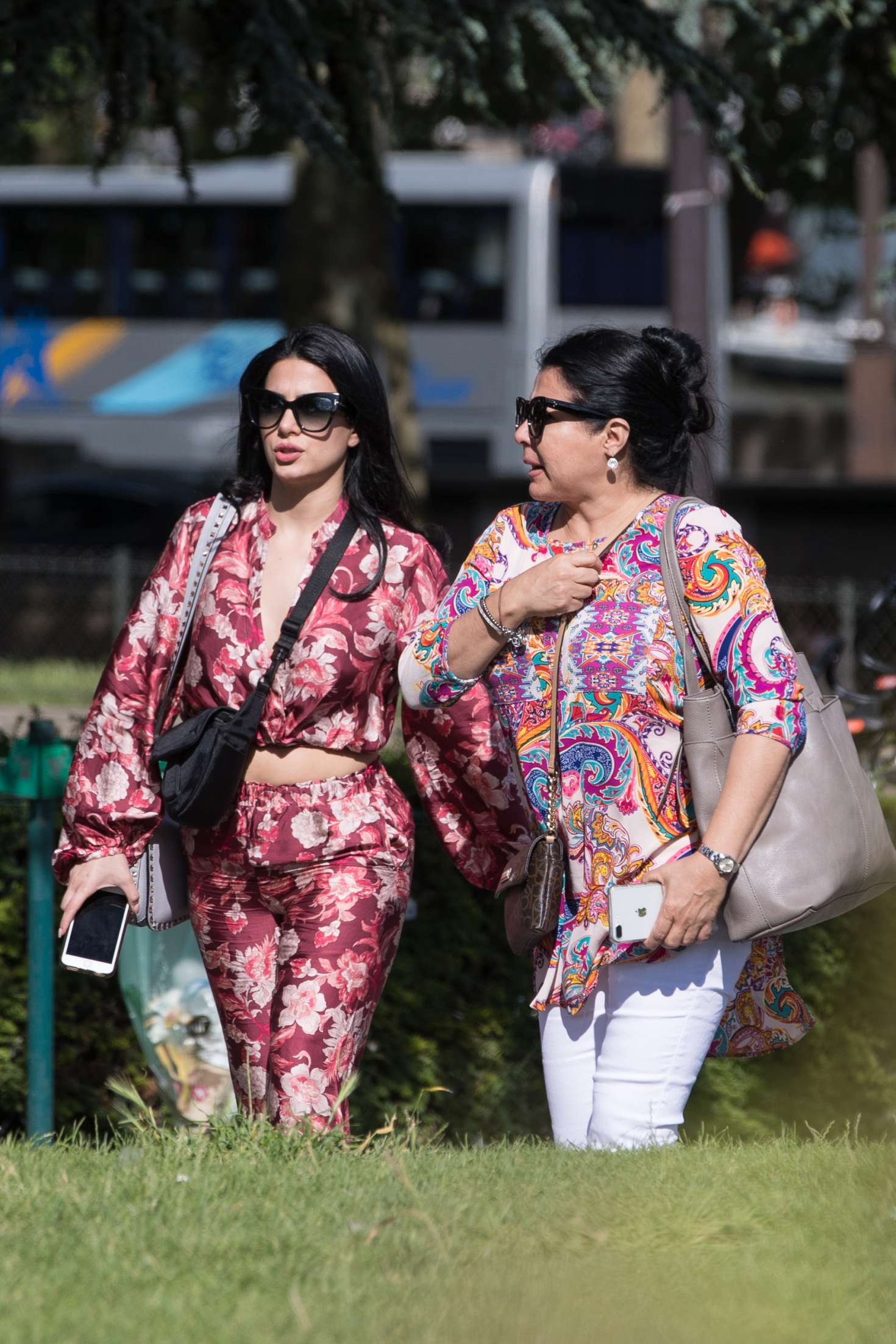 Emeraude Toubia and her mother visit the monuments of Paris