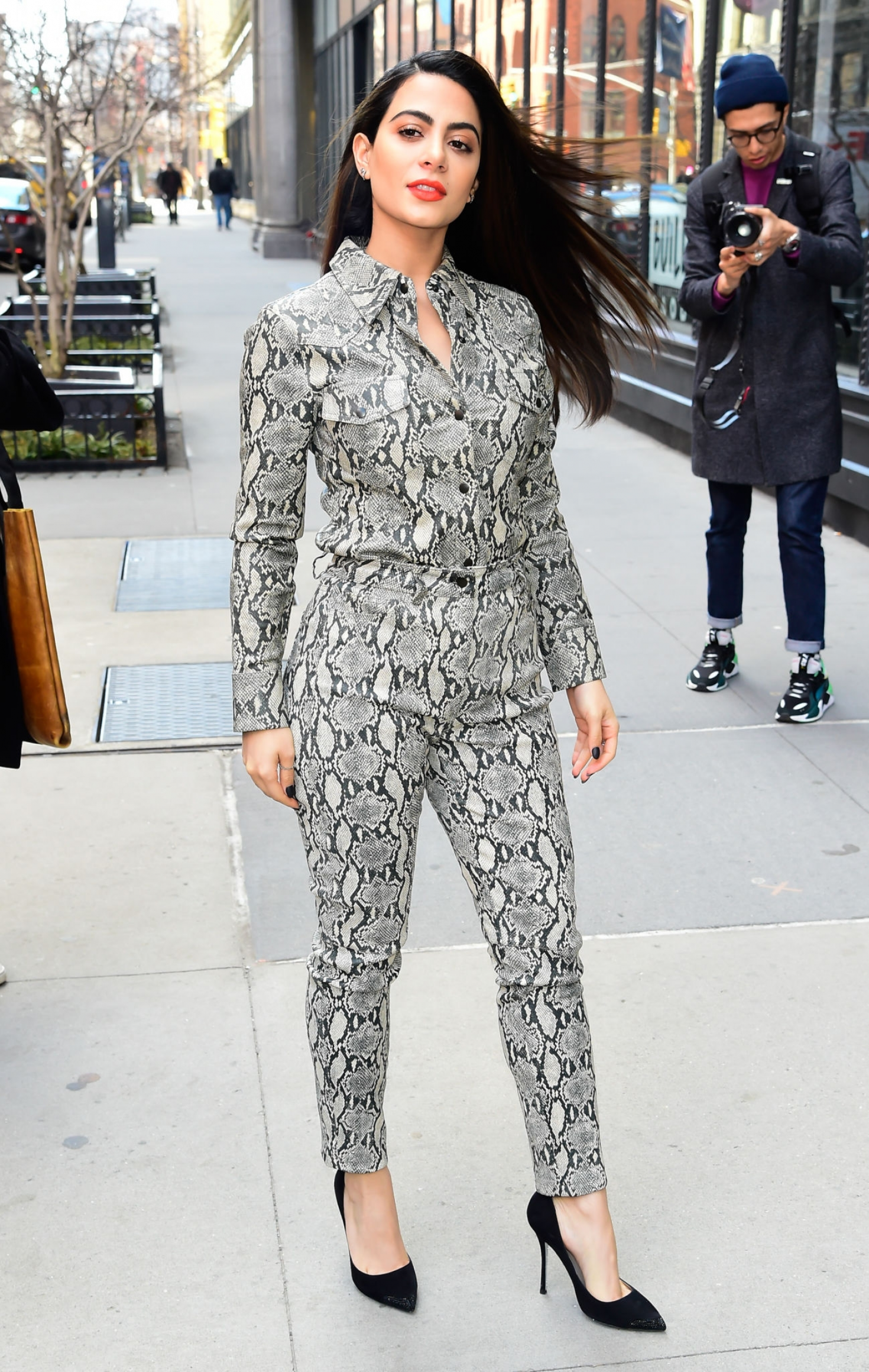 Emeraude Toubia - Arrives at AOL Build in New York City