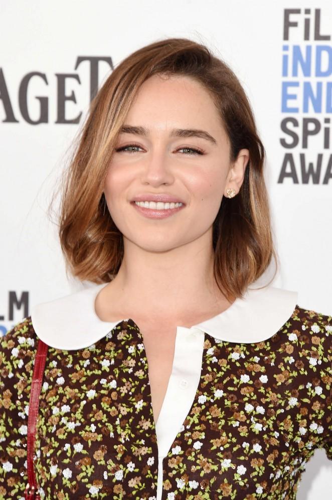 Emilia Clarke – 2016 Film Independent Spirit Awards in Santa Monica