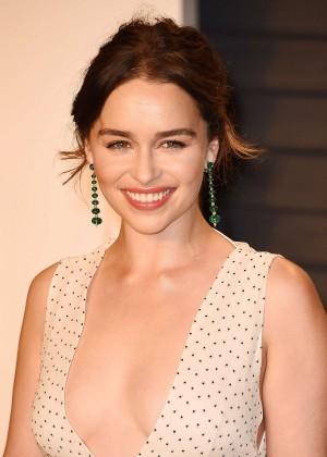 Emilia Clarke - 2016 Vanity Fair Oscar Party in Beverly Hills