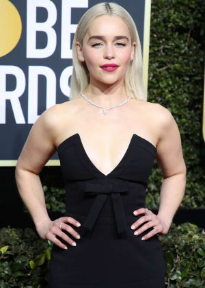 Emilia Clarke - 2018 Golden Globe Awards in Beverly Hills