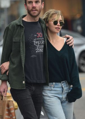 Emilia Clarke and boyfriend Charlie McDowel - Out in Venice
