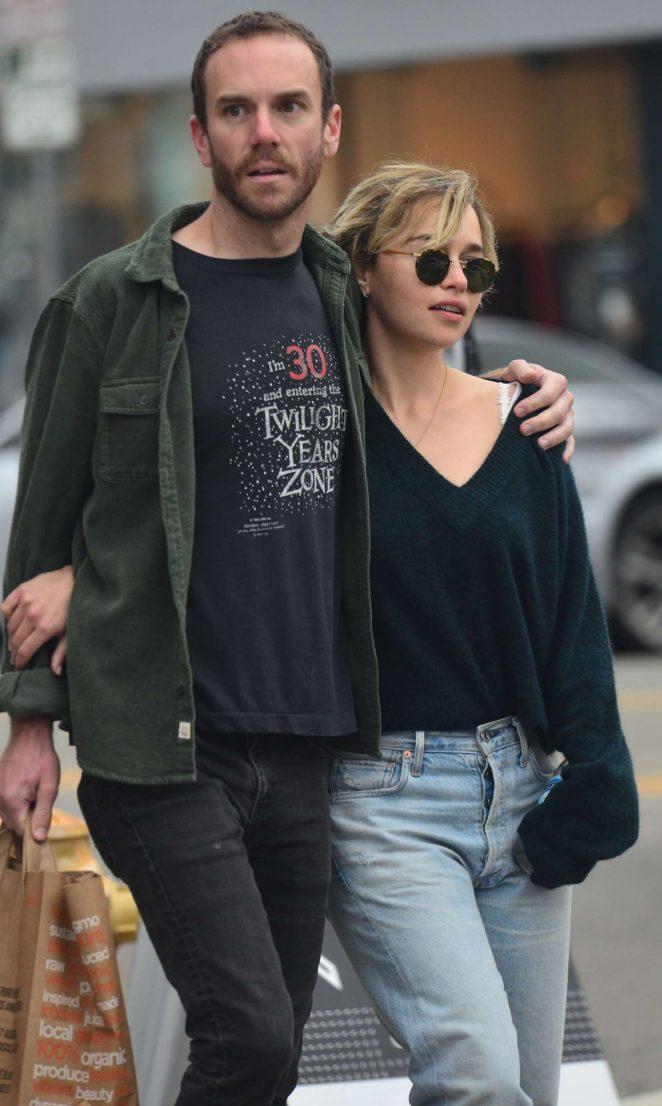 Emilia Clarke and boyfriend Charlie McDowel - Out in Venice