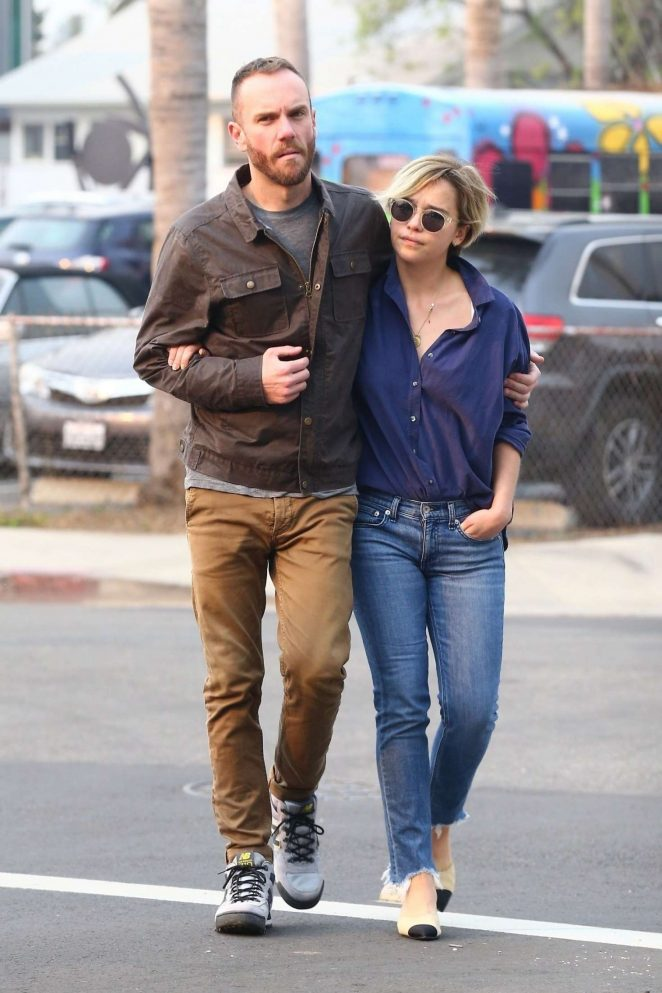 Emilia Clarke and Charlie McDowell - Out in Venice Beach