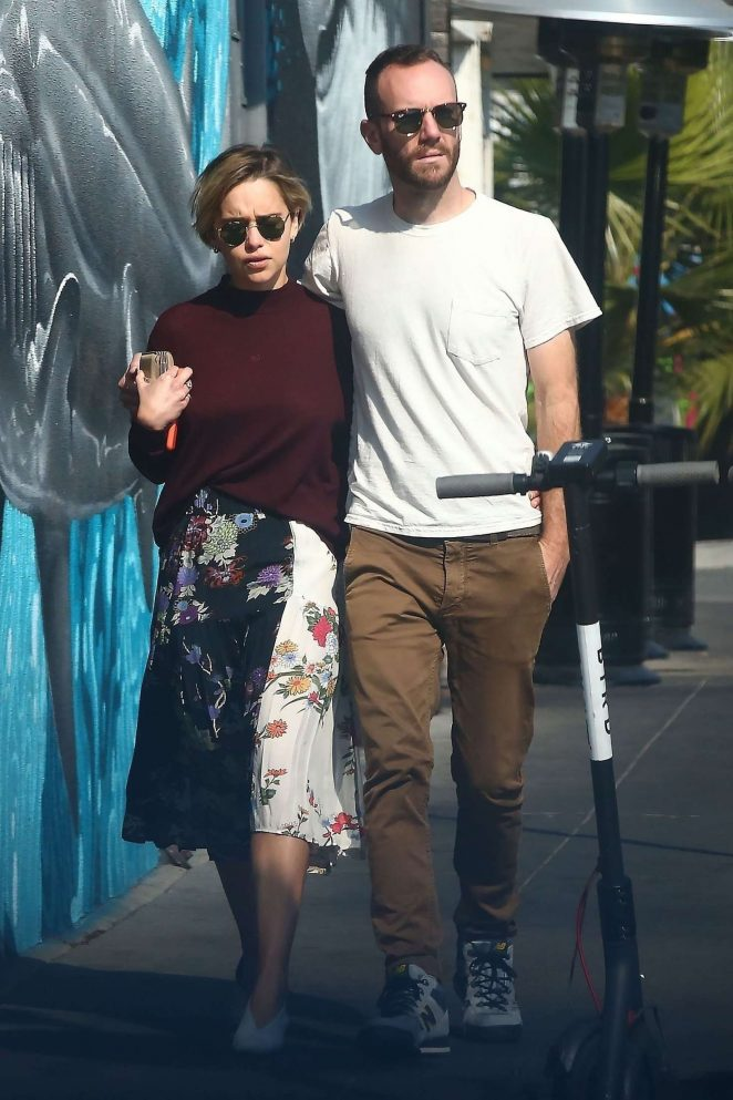 Emilia Clarke and Charlie McDowell - Shopping in Venice Beach