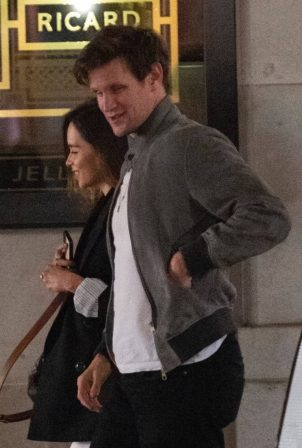 Emilia Clarke and Matt Smith - leave Bob Bob Ricard restaurant in Soho