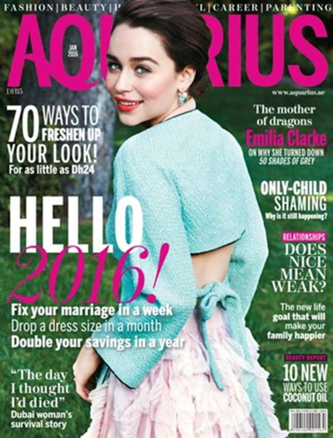 Emilia Clarke - Aquarius Magazine Cover (January 2016)