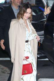 Emilia Clarke - Arrives at 'Good Morning America' in New York