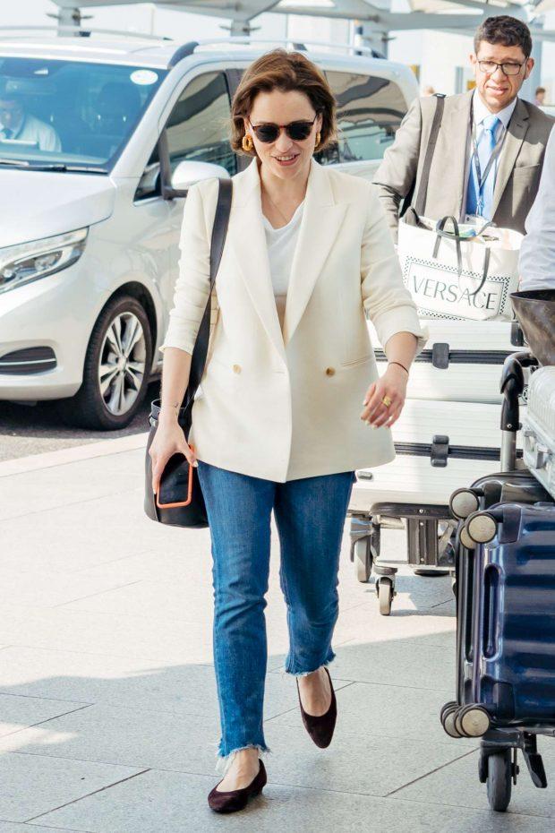 Emilia Clarke - Arrives at Heathrow Airport in London