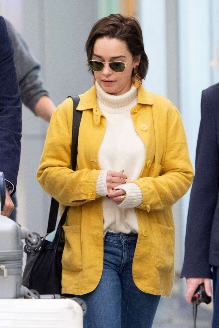 Emilia Clarke - Arrives at JFK Airport in New York