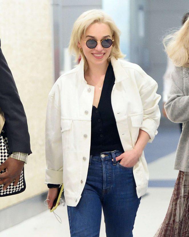 Emilia Clarke – Arrives at JFK Airport in New York