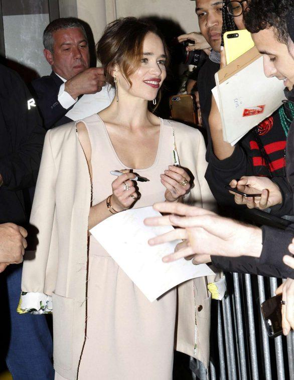 Emilia Clarke - Arrives at 'Last Christmas' Premiere in Paris